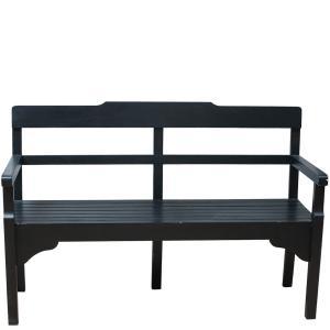Miljögården Träsoffa - Vintage Black - 140 cm