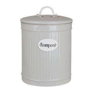 Plåtburk - Kompost - Beige - 25 x Ø17 cm - www.frokenfraken.se