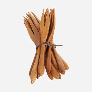 Gafflar - Bambu - 12 st - 9,5 cm - www.frokenfraken.se