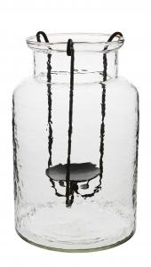 Vas - Med ljushållare - 30 x Ø20 cm - www.frokenfraken.se