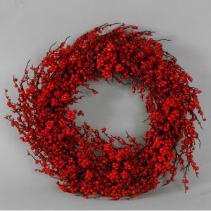 Krans - röda bär - Ø35 cm - www.frokenfraken.se