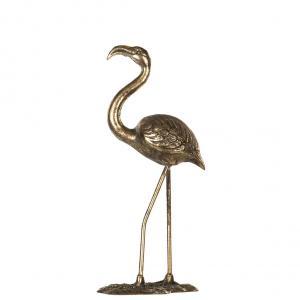Alot Flamingo - Metall Guld - 46 cm