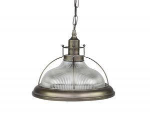 Lampa - Factory med randigt glas - 35,5 x Ø39 cm - www.frokenfraken.se