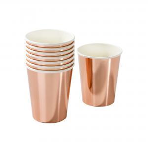 Talking Tables Pappersmuggar - Rosé Guld - 8st - www.frokenfraken.se