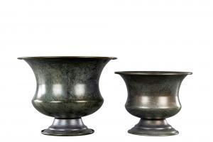 Kruka - Pokal - Grå/Brun - 12,5 x Ø16 cm - www.frokenfraken.se
