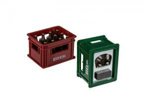 Flasköppnare med magnet - 2st - röd/grön - Ölback - 6 cm - www.frokenfraken.se