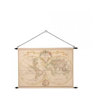 Tavla - Världskarta - Beige - 135 x 85 cm - www.frokenfraken.se