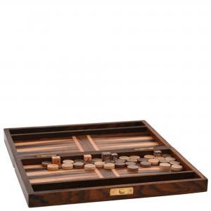 Backgammon - Spel i trä - 15 x 25 x 4,5 cm - www.frokenfraken.se