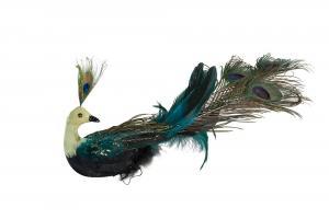 Påfågel - Dekoration - 10 x 30 cm - www.frokenfraken.se