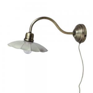 Vägglampa - Mintgrön/Antik mässing - 39 x Ø20 cm - www.frokenfraken.se