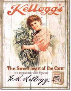 Kelloggs Sweetheart - Retro Metallskylt - 32 x 41 cm - www.frokenfraken.se
