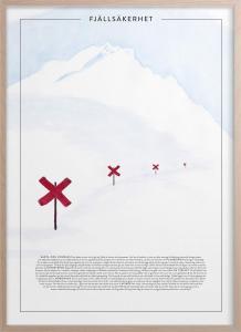 Poster - Fjällsäkerhet - 30 x 40 cm - www.frokenfraken.se