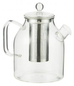 Tekanna i glas med tesil - 1250 ml - Ø12,5 x 18,5 cm - www.frokenfraken.se