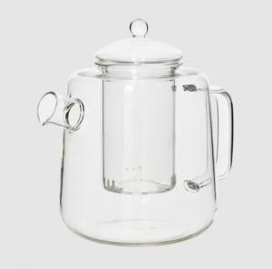 Tekanna i glas med tesil - Ø18 x 16 cm - www.frokenfraken.se