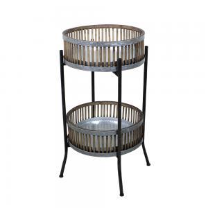 Piedestal - Zink/Bambu - 76 x Ø49 cm - www.frokenfraken.se