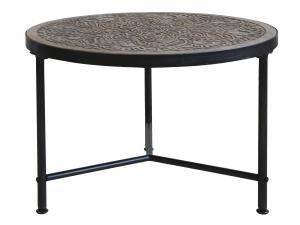 Soffbord med mönstrad skiva - Natur - Ø60 x 41,5 cm - www.frokenfraken.se