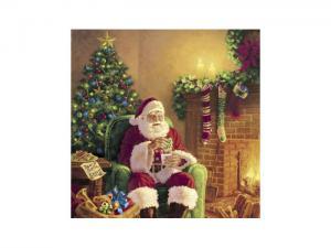 Servetter - Santa at home - 20-pack/33 x 33 cm - www.frokenfraken.se