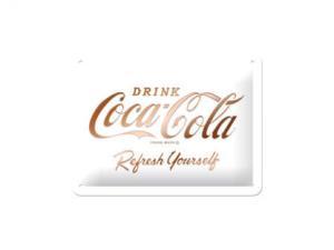 Plåtskylt - Coca-Cola - White - 15 x 20 cm - www.frokenfraken.se