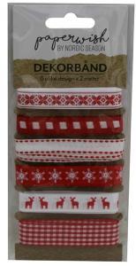 Presentband - Röda & Vita - 6-pack - 2 M - www.frokenfraken.se