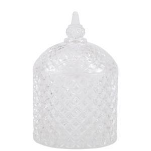 Glasburk med lock - Crystal Jar - 9,5 x 15 cm - www.frokenfraken.se