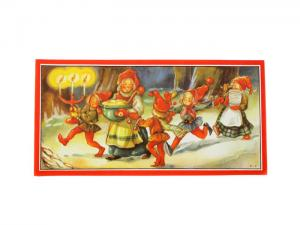 Julbonad - Tomtemor med flickor - 40 x 20 cm - www.frokenfraken.se