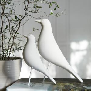Fågel - Vit - Prydnad - 5 x 15 x 16 cm - www.frokenfraken.se