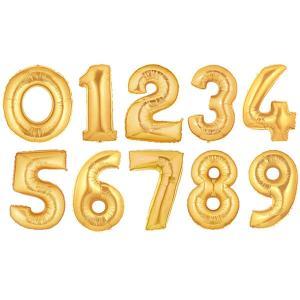 Ballongsiffror i guld - 75 cm - 1 - www.frokenfraken.se