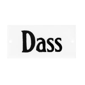 "Emaljskylt - ""Dass""- 4,5 x 9 cm - www.frokenfraken.se"
