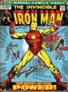 Iron Man Comic Cover - Retro Metallskylt - 32x41 cm - www.frokenfraken.se