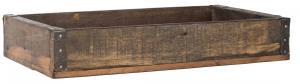 Trälåda - Med metallbeslag - Brun - 20,5 x 6 x 35,5 cm - www.frokenfraken.se