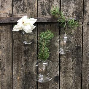 Vaser för vägg - Glas bollar - 3 storlekar - www.frokenfraken.se