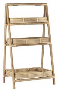 Hylla med 3 st fack - Bambu - 82 x 45 cm - www.frokenfraken.se