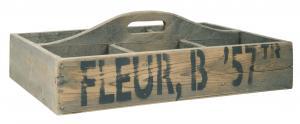 Trälåda med handtag - Fleur B '57TR - 37 x 10,5 x 54 cm - www.frokenfraken.se