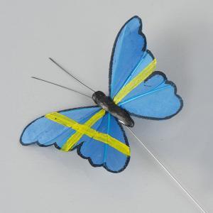 Fjäril - Gul & Blå - Svenska flaggan - www.frokenfraken.se
