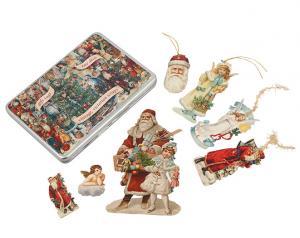 Plåtbox med Juldekorationer - Nostalgi - 55 st - www.frokenfraken.se
