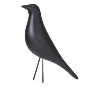 Fågel - Svart - Prydnad - 6 x 22 x 22 cm - www.frokenfraken.se