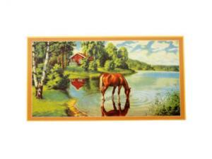 Bonad - häst dricker vatten - 39 x 21 cm - www.frokenfraken.se