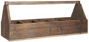 Trälåda med handtag - 5 fack - 22,5 x 24 x 60,5 cm - www.frokenfraken.se