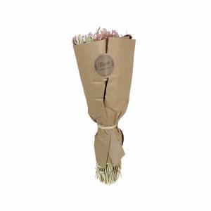 Torkad blomsterbukett - Rosa - 45 cm - www.frokenfraken.se