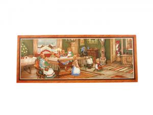Julbonad - Tomten kommer till familj - 78 x 31 cm - www.frokenfraken.se