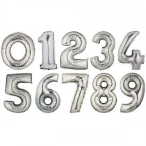 Dynäs Import Ballongsiffror i silver - 75 cm