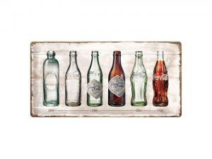 Plåtskylt - Coca-Cola Timeline - 25 x 50 cm - www.frokenfraken.se