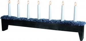 Star Trading Ljusstake Svenljunga - Svart med grått fårskinn - 66 cm