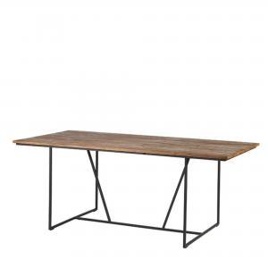 Matbord - Med naturfärgad träskiva - 200 x 100 x 75 cm - www.frokenfraken.se