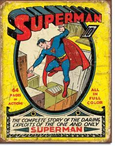 Superman no1 Cover - Retro Metallskylt - 32 x 41 cm - www.frokenfraken.se