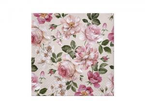 Servett - Roses Glory - 33 x 33 cm - www.frokenfraken.se