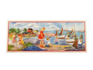 Bonad - segelbåtar - 84 x 34 cm - www.frokenfraken.se