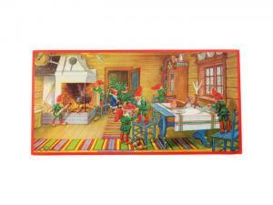 Julbonad - Tomtar dukar bordet - 60 x 30 cm - www.frokenfraken.se