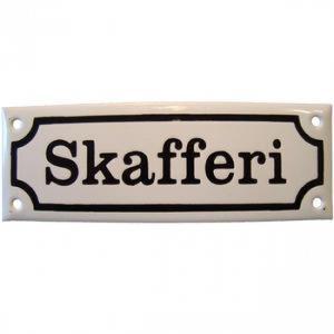 Grunne Skafferi - Emaljskylt - 1800 tal - Originalförlaga - www.frokenfraken.se