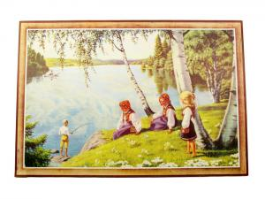 Bonad - Barn vid vattnet - 59 x 86 cm - www.frokenfraken.se